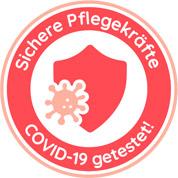 Siegel: sichere Pflegekräfte - Covid19 getestet